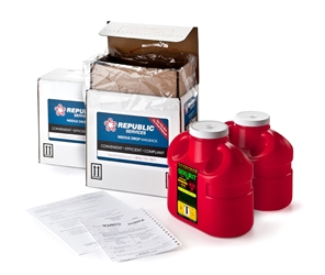 Two 1 Gallon Sharps Disposal Mail-Back Kits